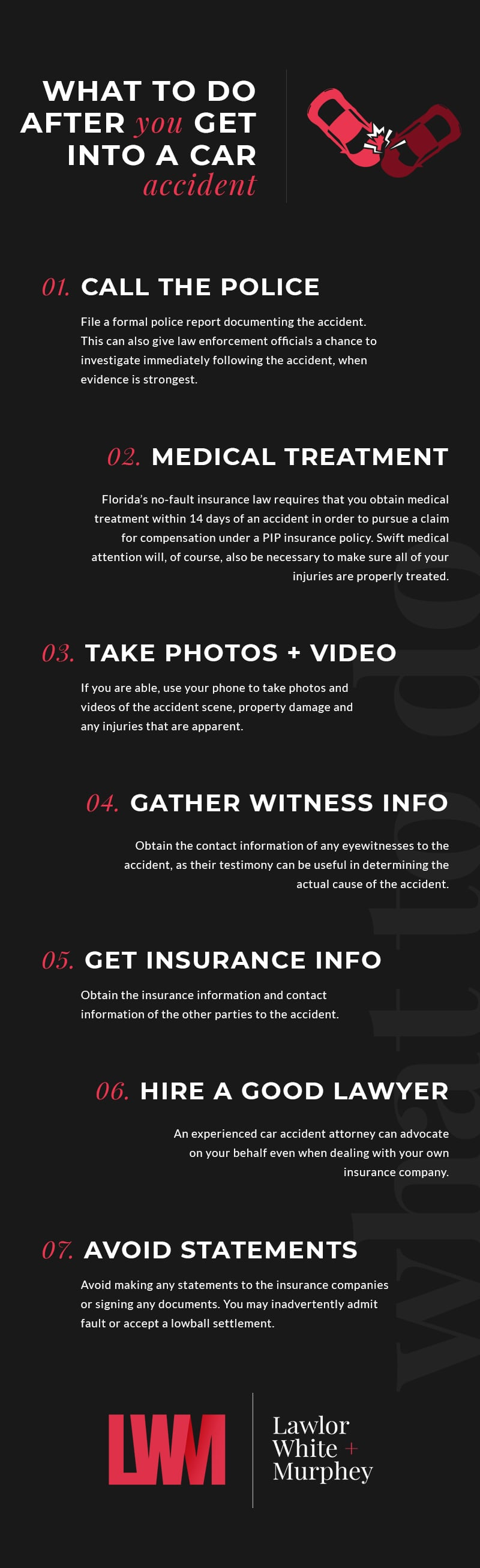 Fort Lauderdale Car Accident Lawyers - What To Do Infographic
